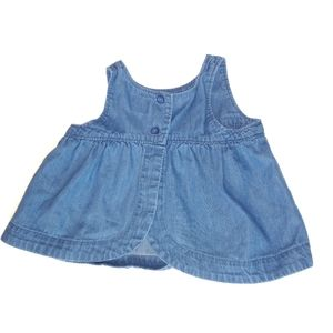 Baby Gap Factory Denim Chambray Button Front Dress